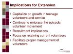 implications for extension