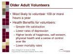 older adult volunteers
