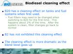 biodiesel cleaning effect