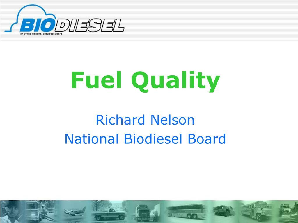 fuel quality l.