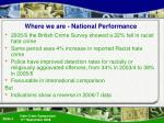 where we are national performance