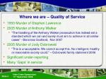 where we are quality of service