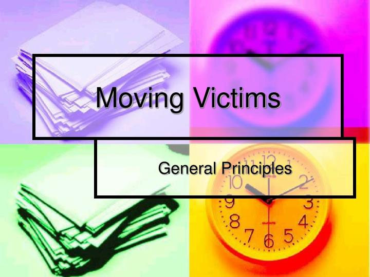 moving victims n.