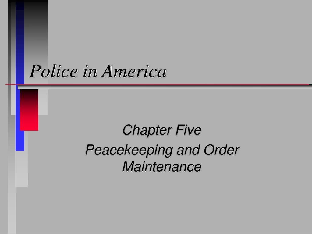 police in america l.