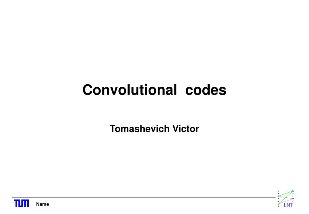 convolutional codes l.
