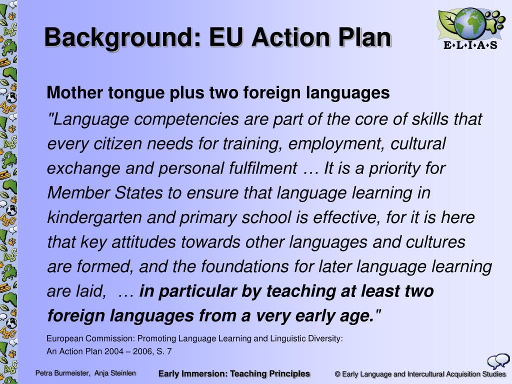 Background: EU Action Plan