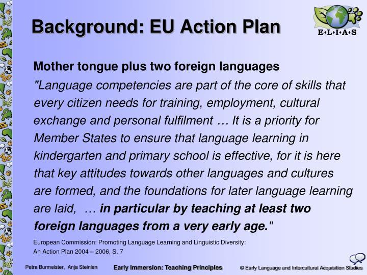 Background eu action plan