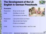 the development of the l2 english in german preschools15