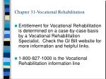chapter 31 vocational rehabilitation