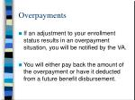 overpayments