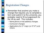 registration changes