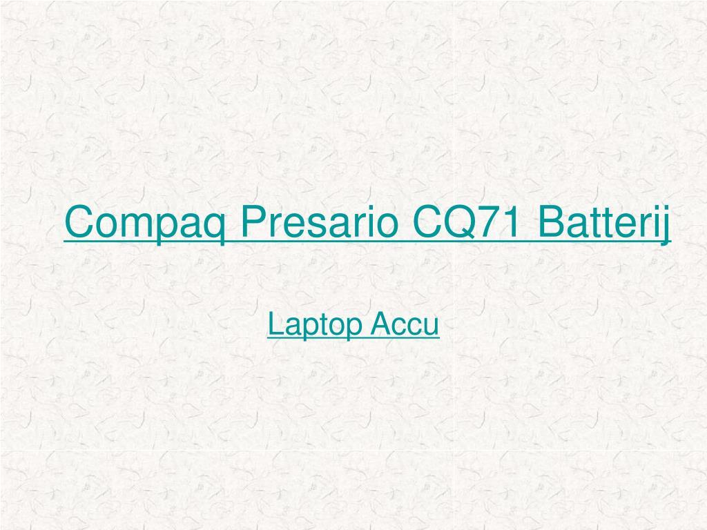 compaq presario cq71 batterij l.