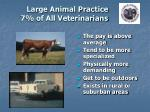 large animal practice 7 of all veterinarians