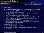 conclusion future developments