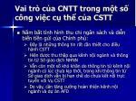 vai tr c a cntt trong m t s c ng vi c c th c a cstt