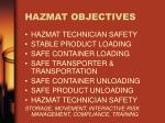 hazmat objectives