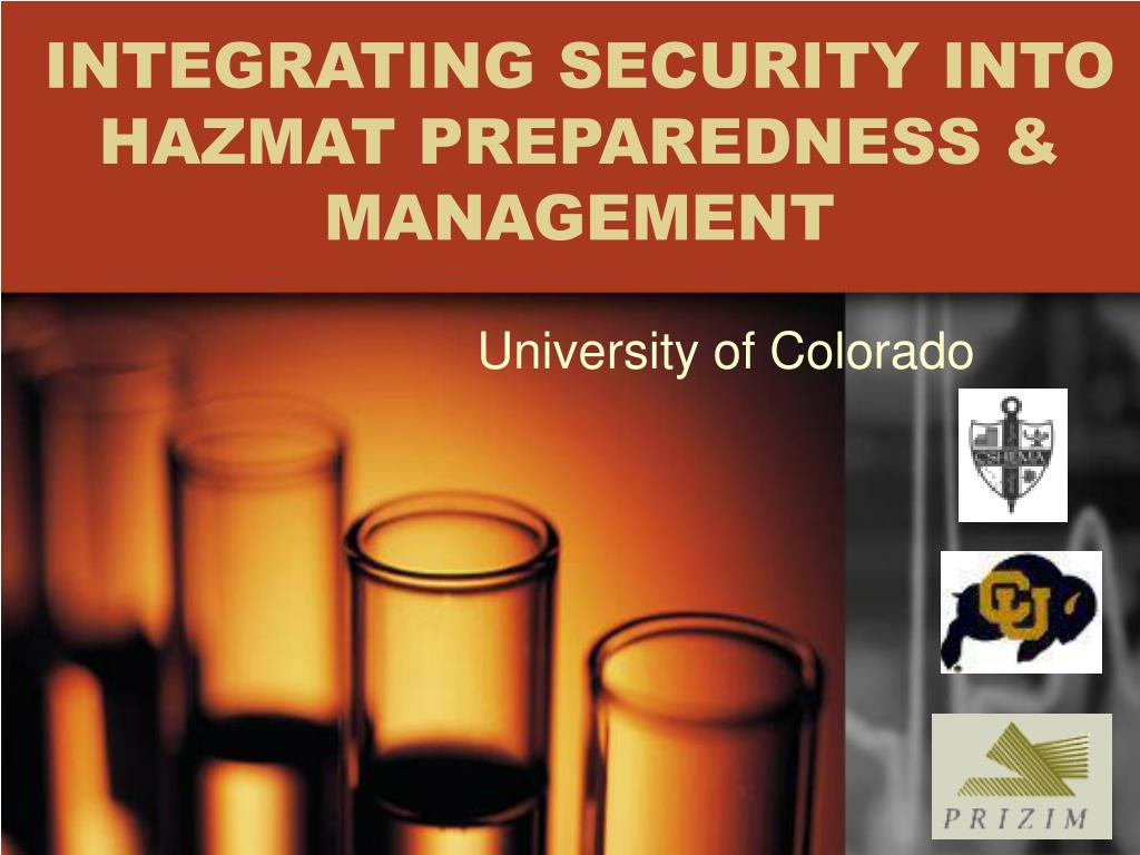 integrating security into hazmat preparedness management l.