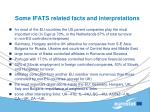 some ifats related facts and interpretations