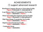 achievements support advanced research