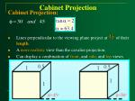 cabinet projection
