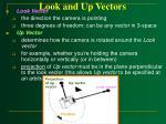 look and up vectors