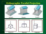 orthographic parallel projection41