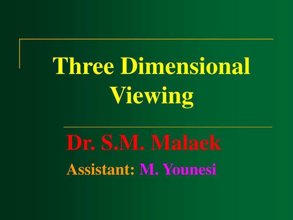 three dimensional viewing l.