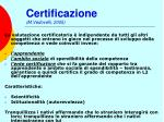 certificazione m vedovelli 2005