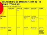 contesti d uso immigrati et 12 15 anni livello a2 adattamento da materiale cils