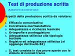 test di produzione scritta adattamento da materiale cils35