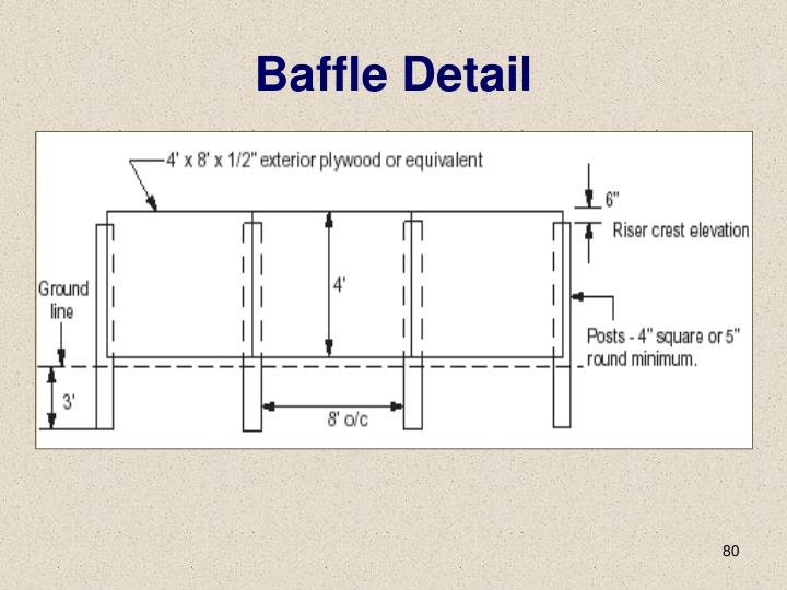 Baffle Detail