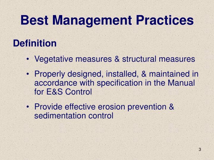 Best management practices1