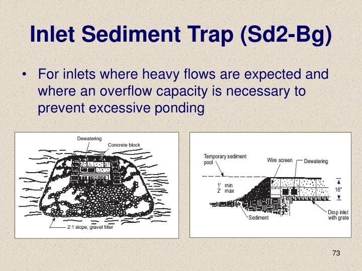 Inlet Sediment Trap (Sd2-Bg)