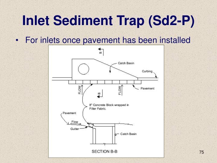 Inlet Sediment Trap (Sd2-P)