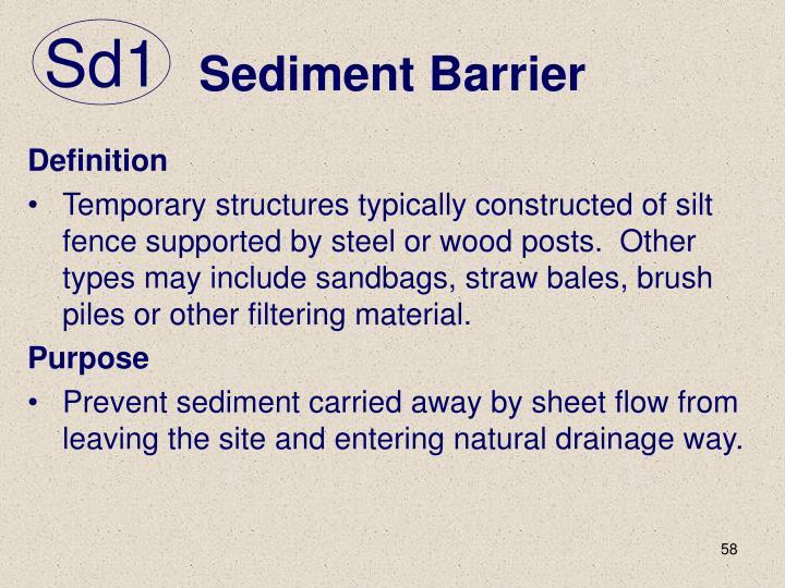 Sediment Barrier