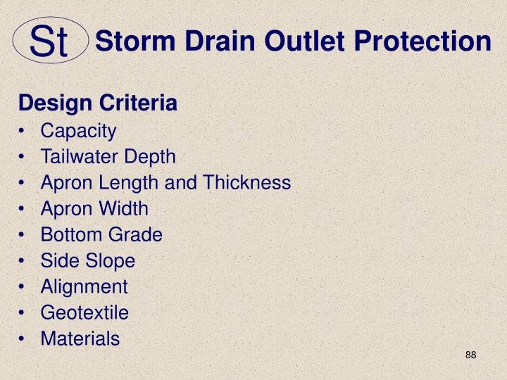 Storm Drain Outlet Protection