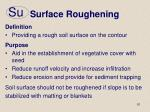 surface roughening