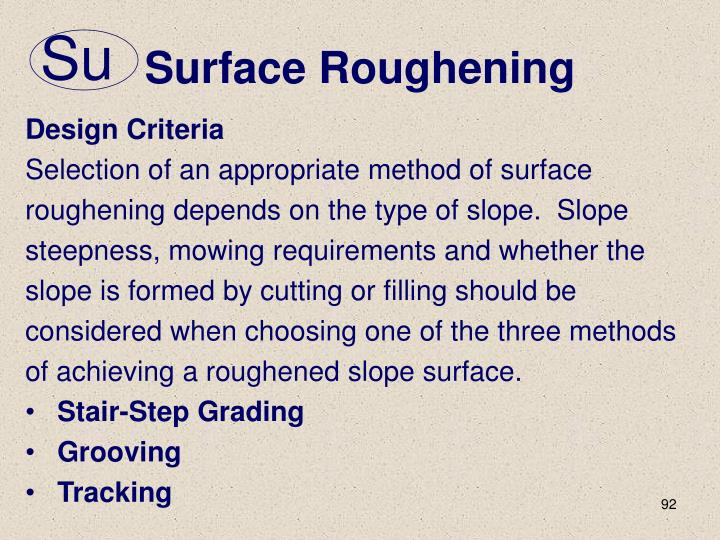 Surface Roughening