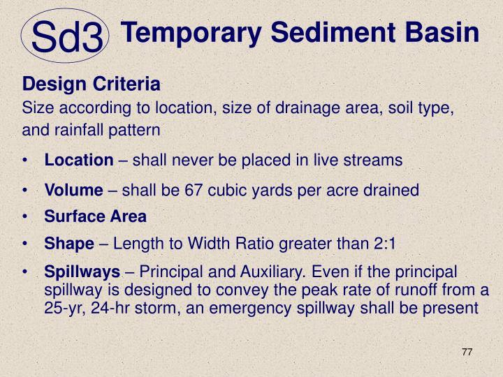 Temporary Sediment Basin