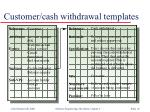 customer cash withdrawal templates