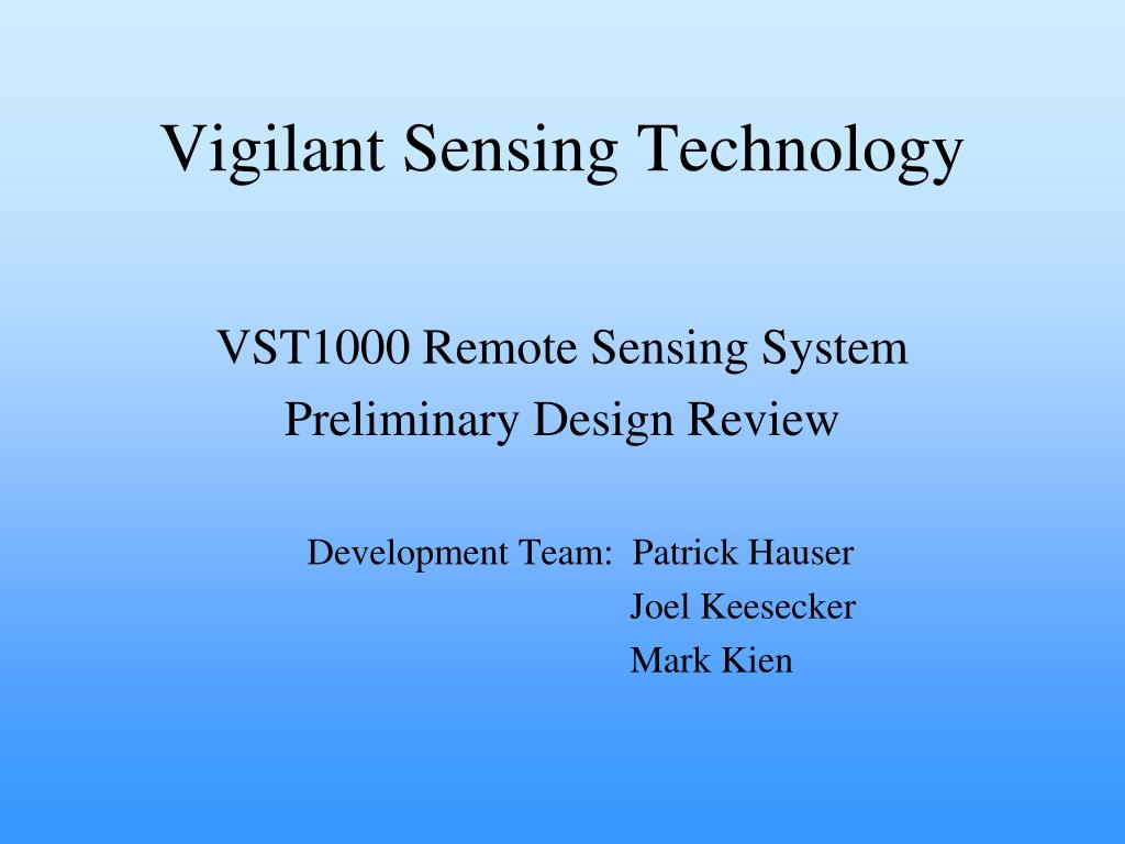 vigilant sensing technology l.