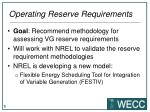 operating reserve requirements