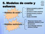 5 modelos de coste y esfuerzo