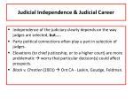 judicial independence judicial career