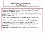 remuneration reference 1997 novel elements