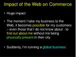 impact of the web on commerce