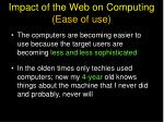 impact of the web on computing ease of use