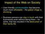 impact of the web on society