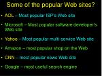 some of the popular web sites