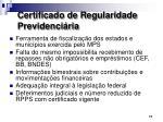 certificado de regularidade previdenci ria